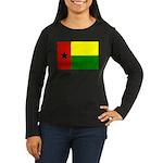 Guinea Bissau Flag Women's Long Sleeve Dark T-Shir