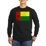 Guinea Bissau Flag Long Sleeve Dark T-Shirt