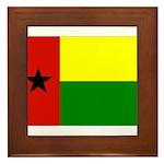 Guinea Bissau Flag Framed Tile
