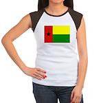 Guinea Bissau Flag Women's Cap Sleeve T-Shirt