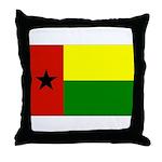 Guinea Bissau Flag Throw Pillow