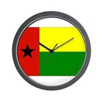 Guinea Bissau Flag Wall Clock