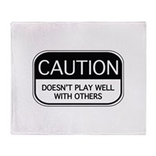 CAUTION Throw Blanket