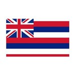 Hawaii Flag 38.5 x 24.5 Wall Peel