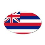 Hawaii Flag 22x14 Oval Wall Peel