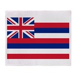 Hawaii Flag Throw Blanket