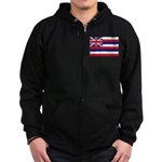 Hawaii Flag Zip Hoodie (dark)