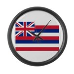 Hawaii Flag Large Wall Clock