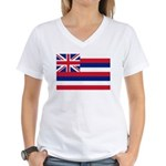 Hawaii Flag Women's V-Neck T-Shirt