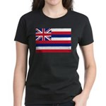 Hawaii Flag Women's Dark T-Shirt