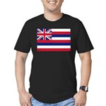 Hawaii Flag Men's Fitted T-Shirt (dark)