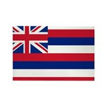Hawaii Flag Rectangle Magnet
