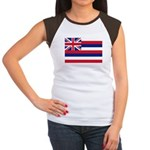 Hawaii Flag Women's Cap Sleeve T-Shirt