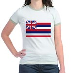 Hawaii Flag Jr. Ringer T-Shirt