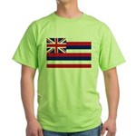 Hawaii Flag Green T-Shirt
