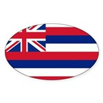 Hawaii Flag Sticker (Oval)