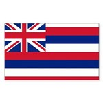 Hawaii Flag Sticker (Rectangle)