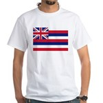 Hawaii Flag White T-Shirt
