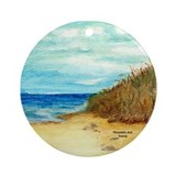 Beach Watercolor Ornament (Round)