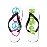 PEACELOVE Hockey Flip Flops
