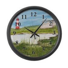 Assateaque Light Large Wall Clock