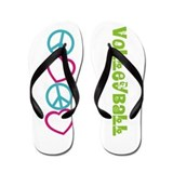 PEACE LOVE Volleyball Flip Flops