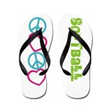 PEACELOVE Softball Flip Flops