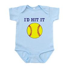 I'd Hit it softball Infant Bodysuit