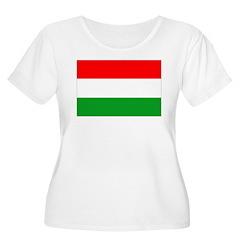 Hungary Flag Women's Plus Size Scoop Neck T-Shirt