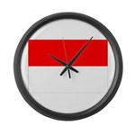 Indonesia Flag Large Wall Clock