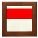 Indonesia Flag Framed Tile