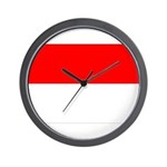Indonesia Flag Wall Clock