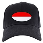 Indonesia Flag Black Cap