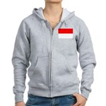 Indonesia Flag Women's Zip Hoodie