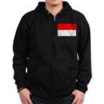 Indonesia Flag Zip Hoodie (dark)