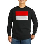 Indonesia Flag Long Sleeve Dark T-Shirt