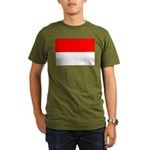 Indonesia Flag Organic Men's T-Shirt (dark)