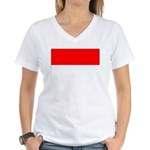 Indonesia Flag Women's V-Neck T-Shirt