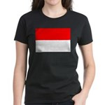 Indonesia Flag Women's Dark T-Shirt