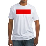 Indonesia Flag Fitted T-Shirt