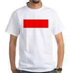 Indonesia Flag White T-Shirt