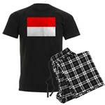 Indonesia Flag Men's Dark Pajamas
