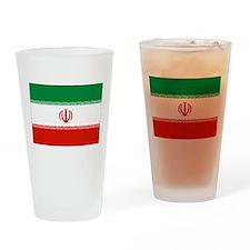 Iran Flag Drinking Glass