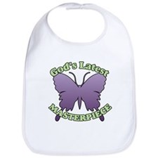 God's Latest Masterpiece Butterfly Bib