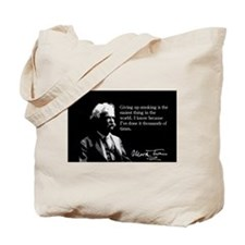 Mark Twain, Quit Smoking, It's Easy, Tote Bag