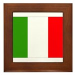Italy Flag Framed Tile
