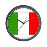 Italy Flag Wall Clock