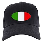 Italy Flag Black Cap
