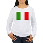 Italy Flag Women's Long Sleeve T-Shirt