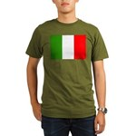 Italy Flag Organic Men's T-Shirt (dark)